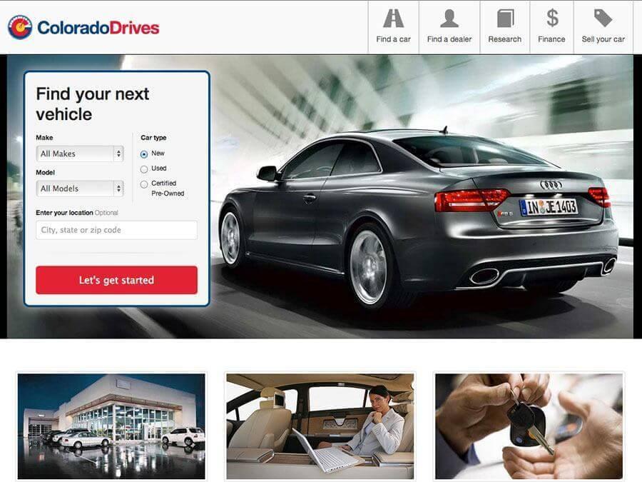 Thumbnail of the Colorado Drives autos site