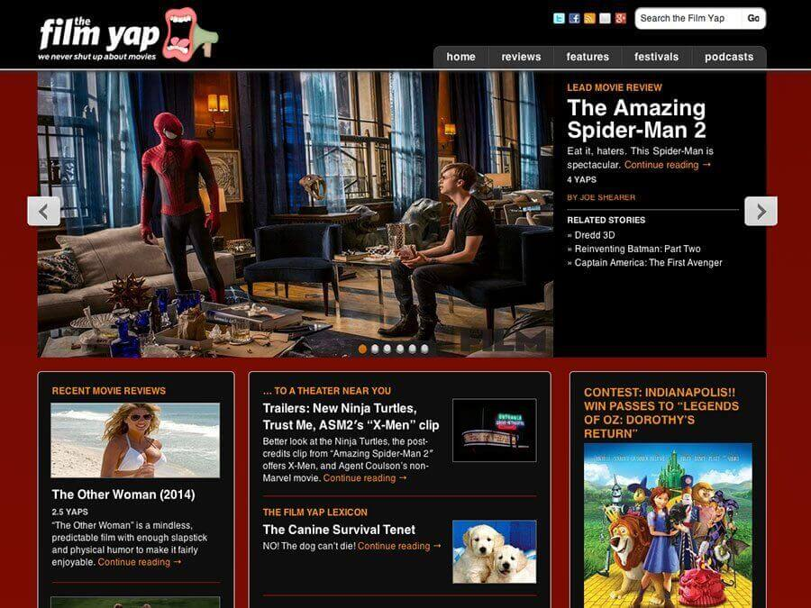Thumbnail of The FIlm Yap WordPress site