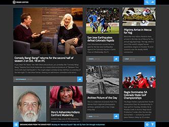 Thumbnail of the Denver Post Media Center site prototype