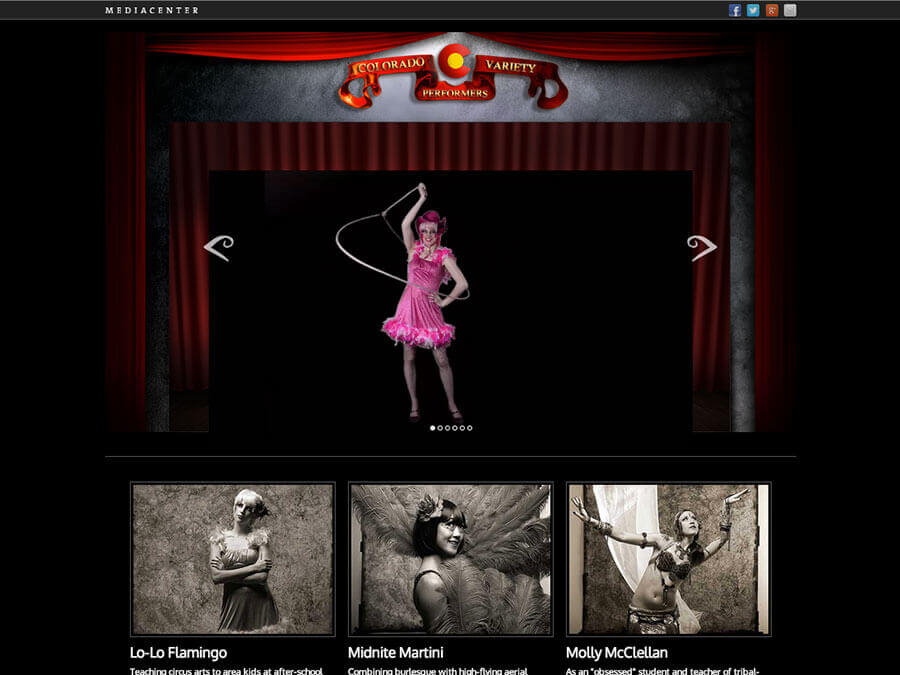 Thumbnail of the Colorado Variety Performers multimedia site